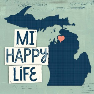 MI Happy Life of Charlevoix Michigan home, cottage, cabin, decor.